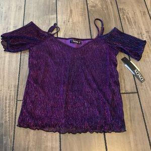 XOXO - Purple Sparkly Blouse